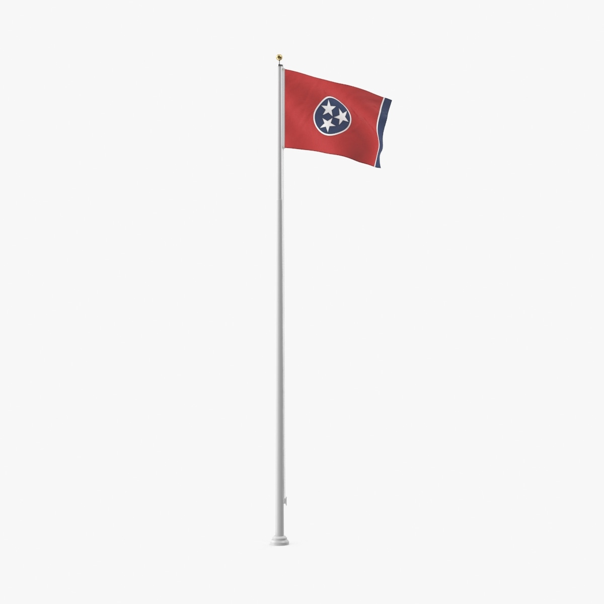 3d model of state-flags---tennessee