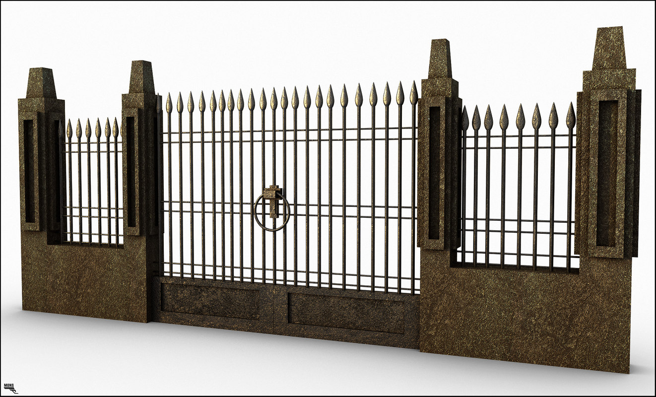 3d gate retro iron