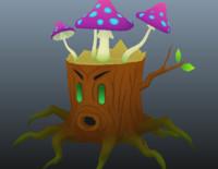 3d stumpy - character