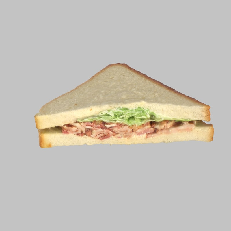 sandwich bacon 3d model