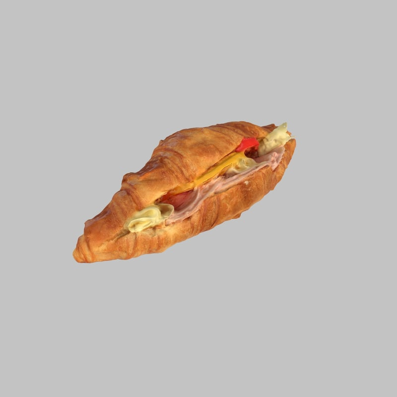 croissant ham cheese max