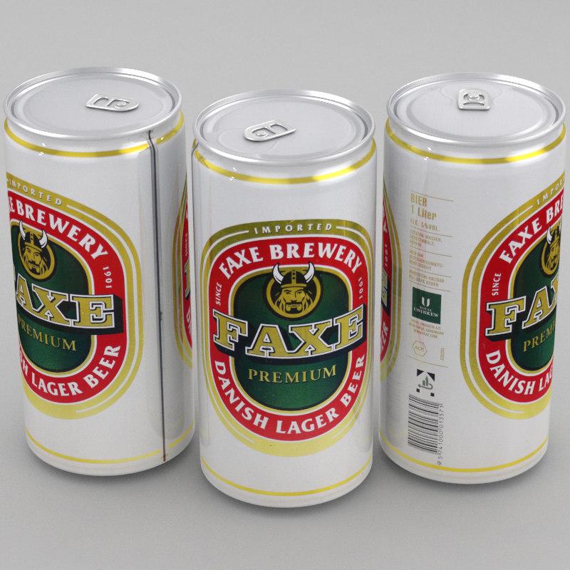 3d beer faxe model