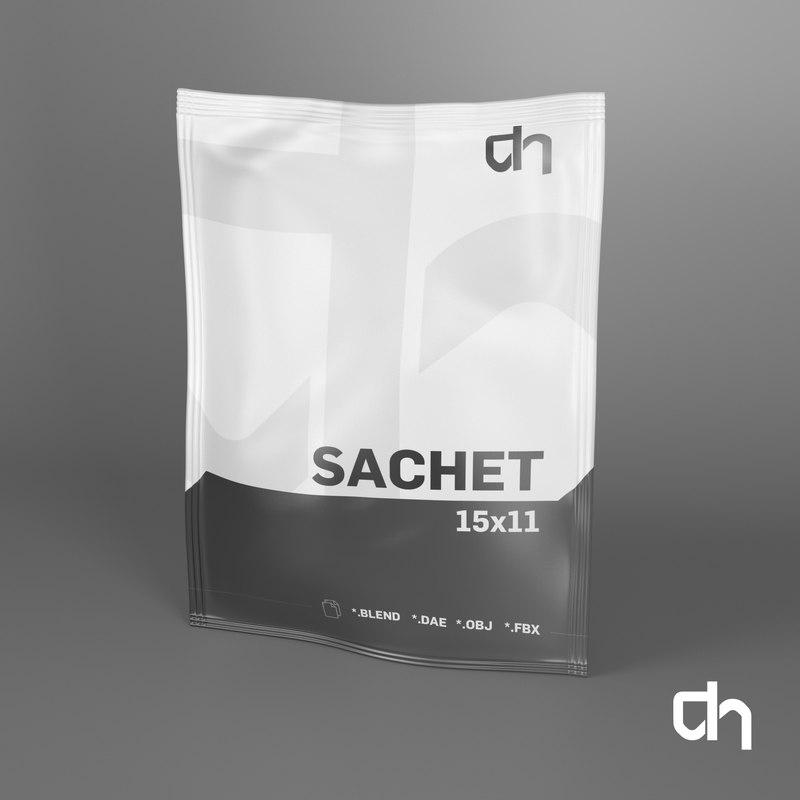 3d sachet 11x15cm 60 grams model