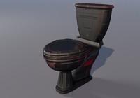 futuristic toilet 3d 3ds
