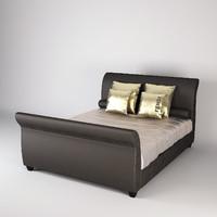 3d model of fendi gallia bed
