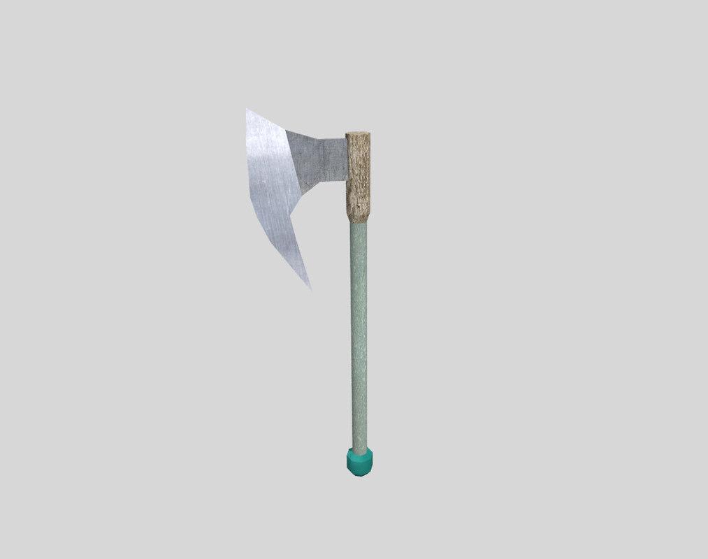 3d model fantasy axe