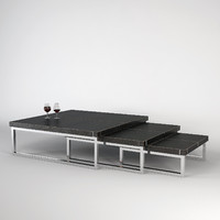 3d model of fendi journal table