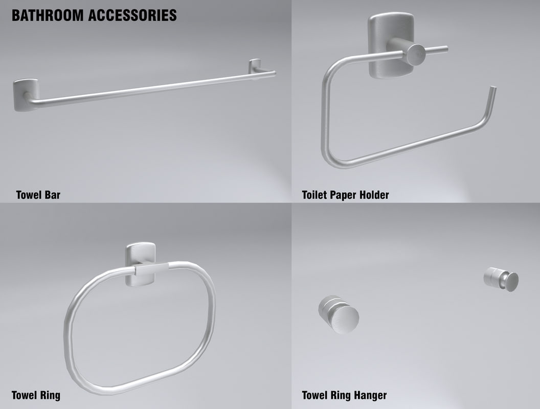 bathroom bar knob 3d 3ds