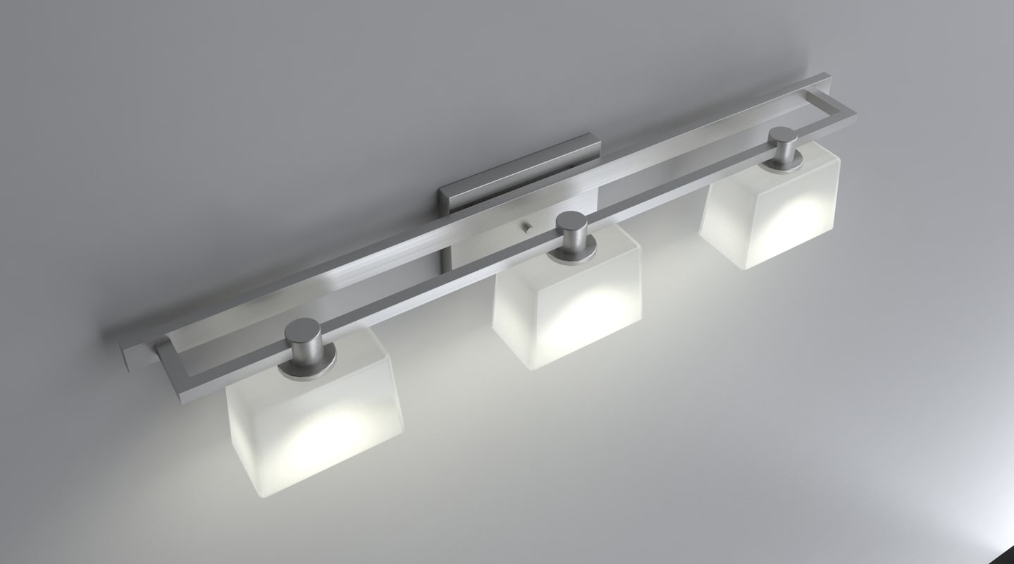 3d model bathroom light fixture