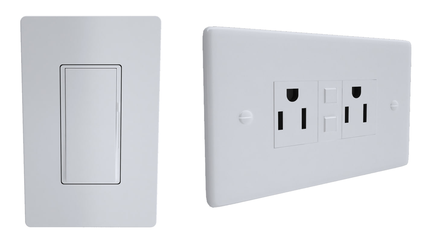 3d model lutron light switch outlet
