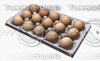 3d model food series-eggs