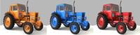 Rusty tractor MTZ-82