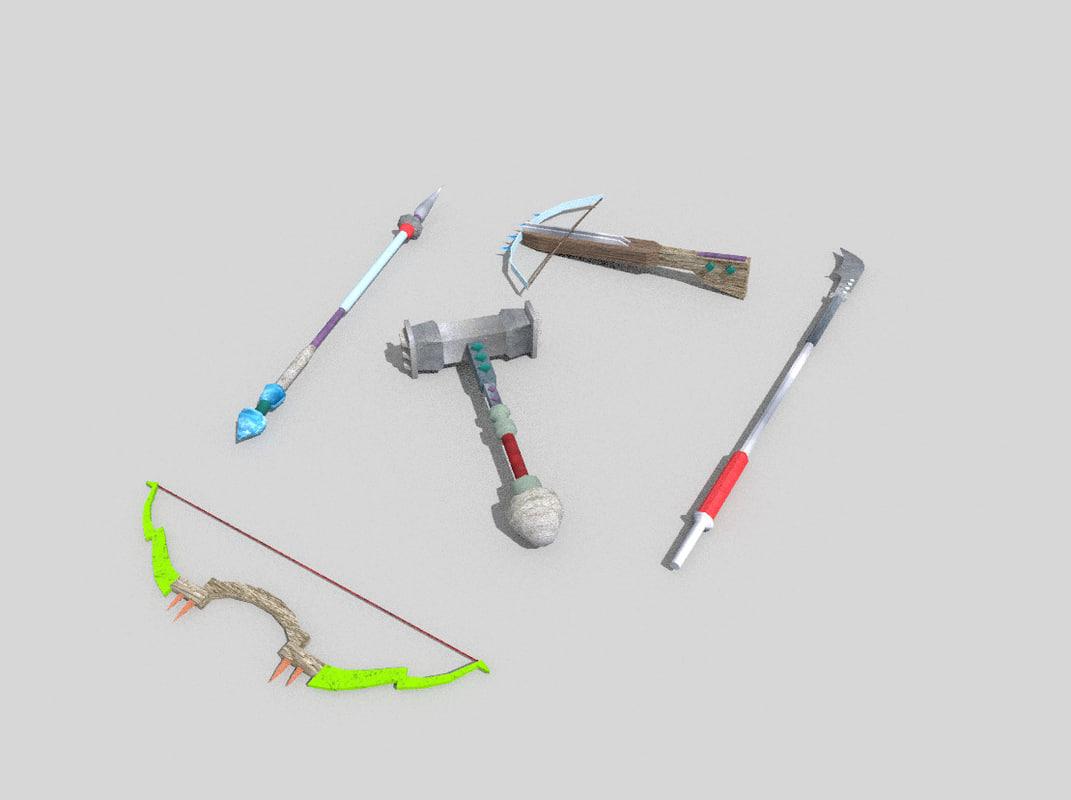 3d weapon fantasy model