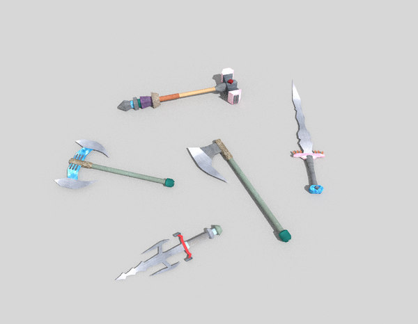 pack 5 fantasy weapons 3ds