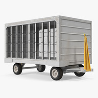 airport closed baggage trailer max