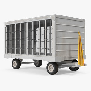 airport closed baggage trailer max