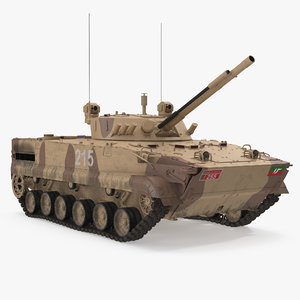 light tank bmp-3 desert 3d max