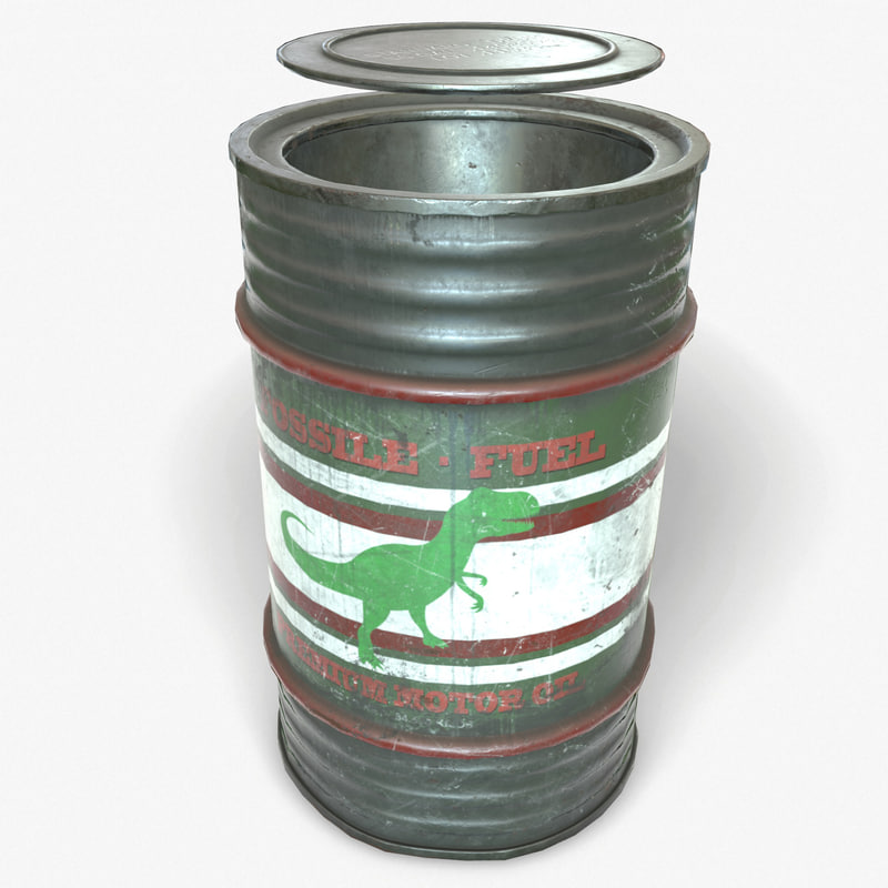 ready oil gas barrel 3d model