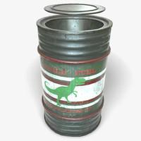 ready oil gas barrel 3d model