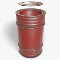 3d model ready oil barrel pbr
