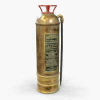 Fire Extinguisher Vintage Retro Game Ready PBR Textures