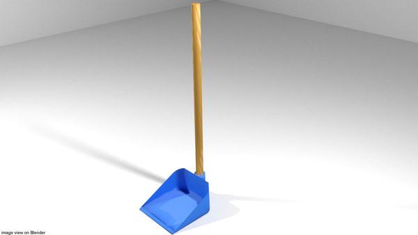3d model household scoop