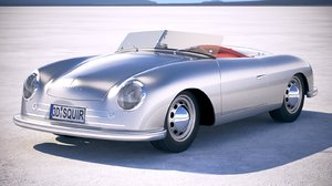 3d porsche 356 number model
