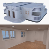 streamline moderne home interior fbx