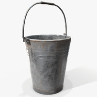 ready bucket pail pbr 3d model