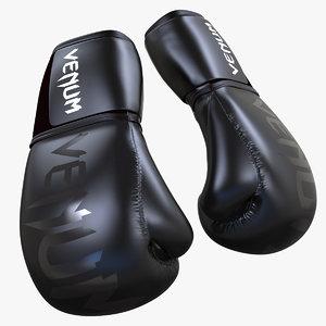 black boxing gloves 3d model
