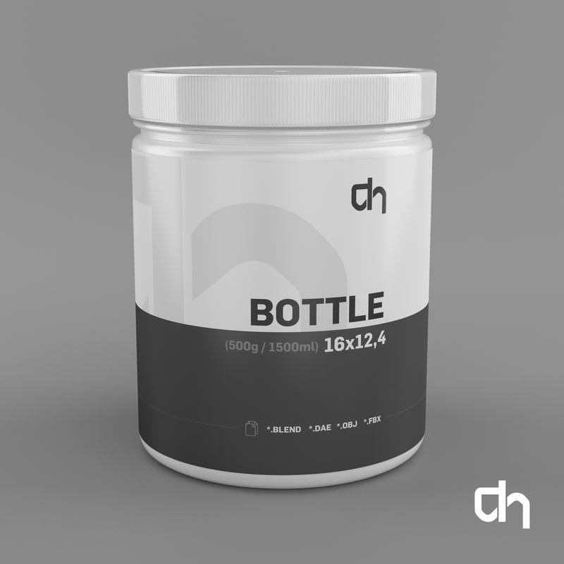 bottle 16x12 4cm 3d blend