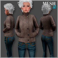 female male jacket 3d 3ds