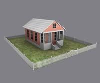 3d cottage house model