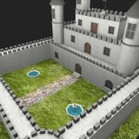 3d model castle fantasy