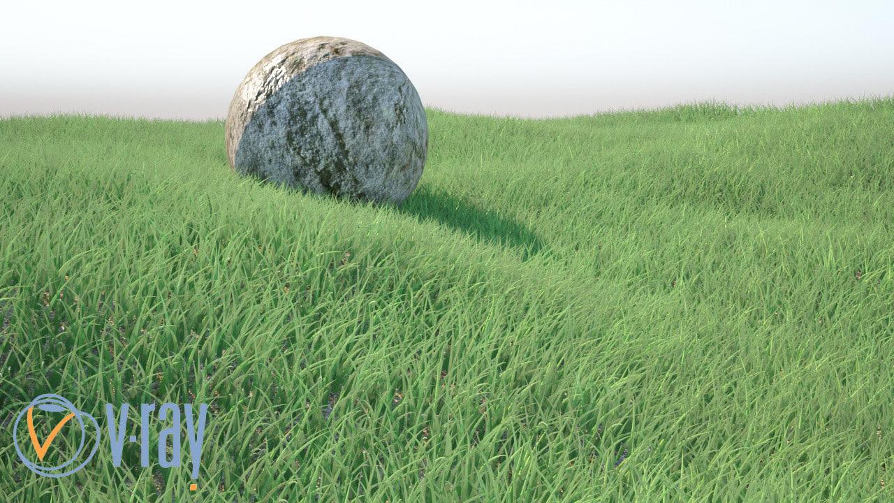3d grass realistic model