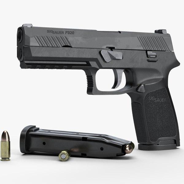 3d sig sauer p320 pistol
