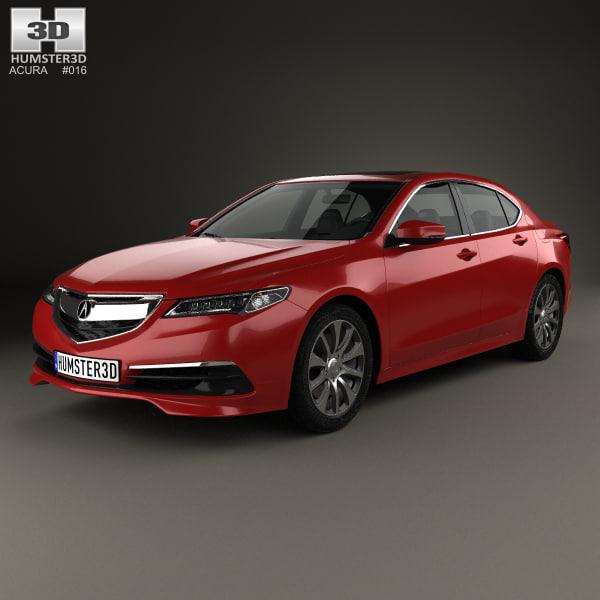 3d Acura Tlx 2014