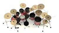 3d drums model