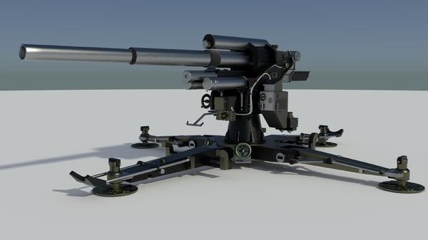 3d model flak 18 88mm