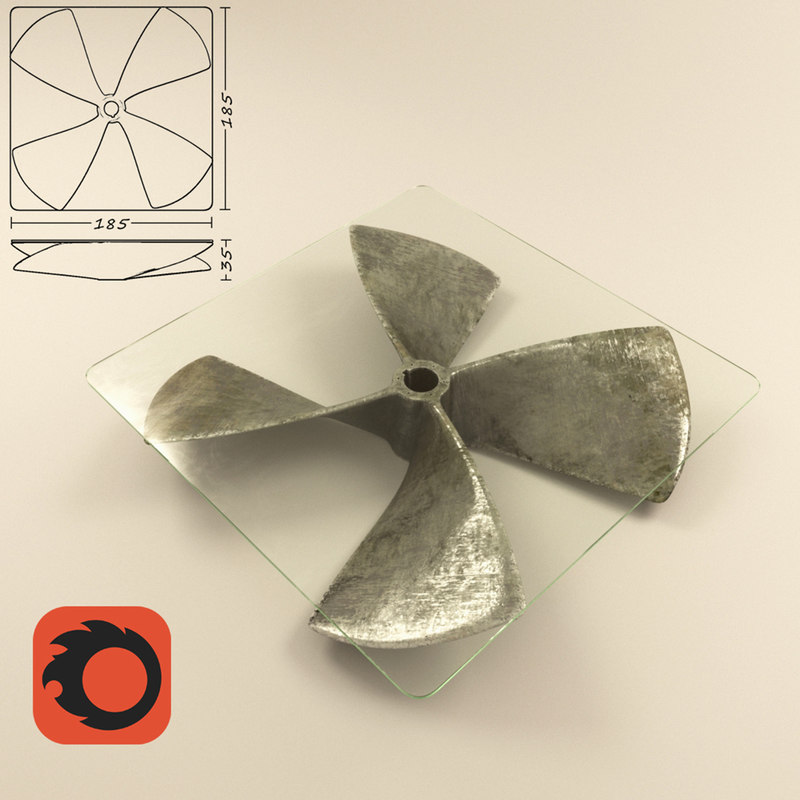 table propeller 3d model