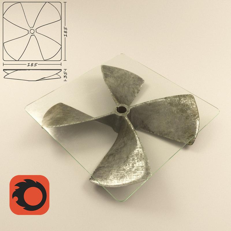 table propeller 3d model