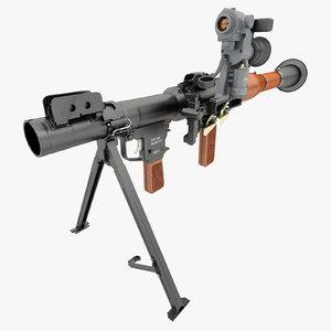 3d v2 grenade launcher model