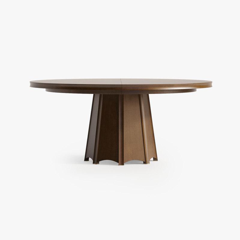 baker encircle dining table 3d max