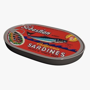 3d model sardines canned