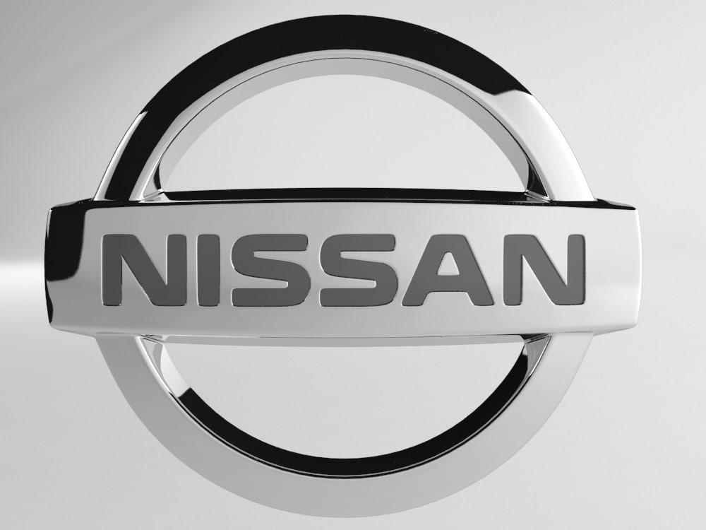 3d model nissan logo
