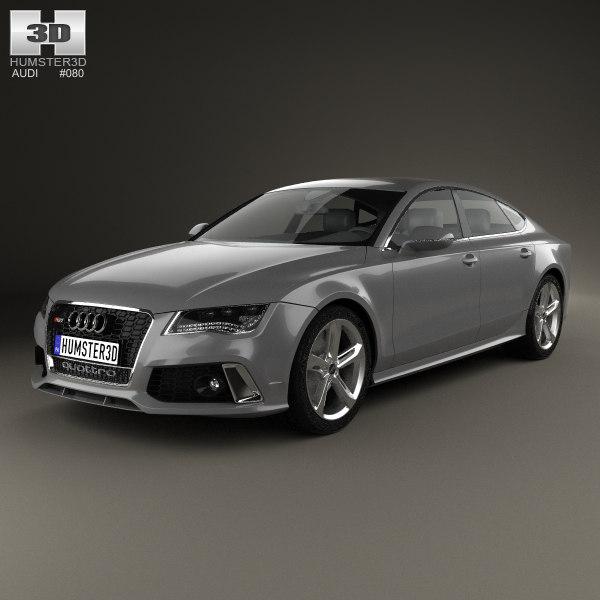 2014 Audi Rs7 3d Model