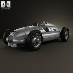 1938 auto union 3d model