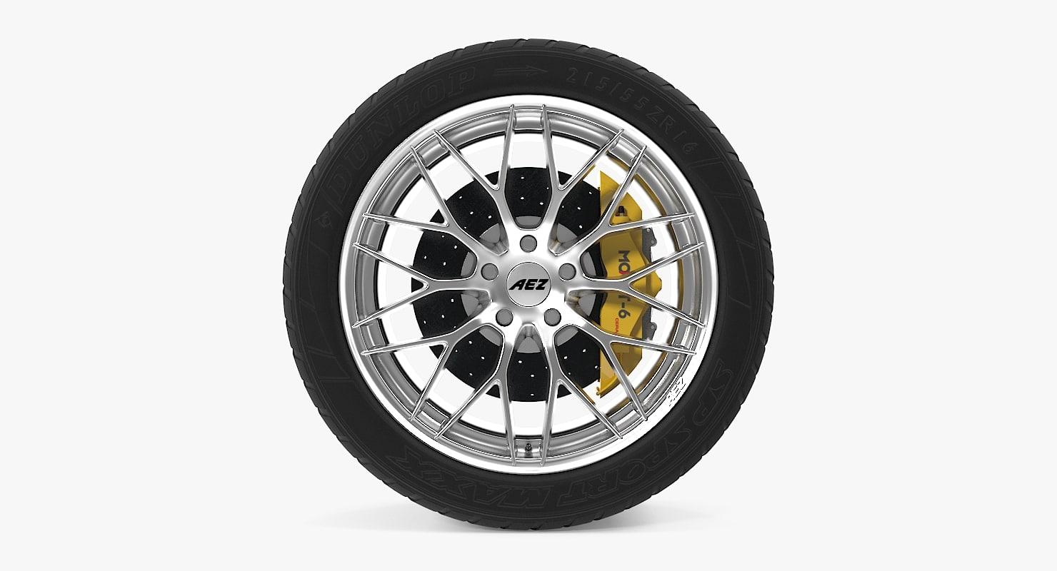3d car wheel aez antigua
