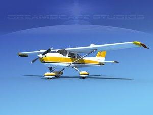 cessna 172 stol skyhawk 3d model