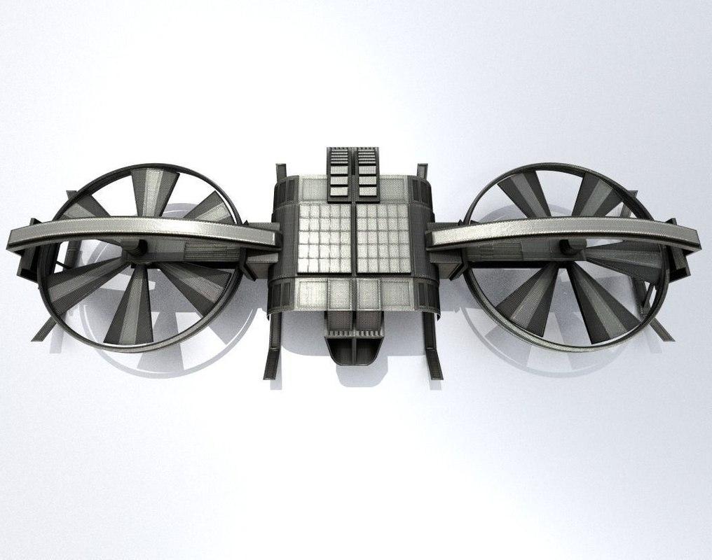 controllable drone design 3d 3ds